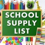 Supply list 1